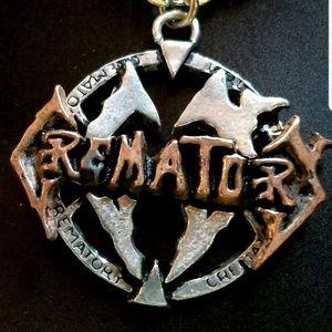"RARE Alchemy POKER ""Crematory"" Pewter 0endant"